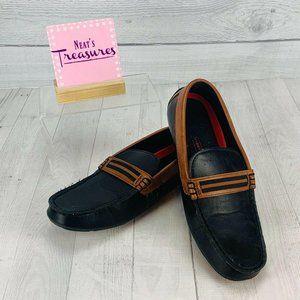 Levis Black Brown Slip Moccasins Size 9